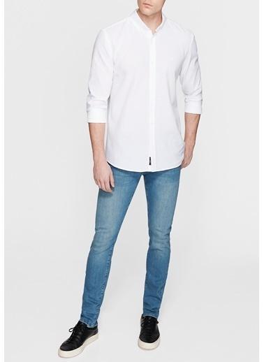 Mavi Cepsiz Gömlek Pembe